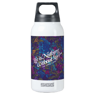 love messages insulated water bottle