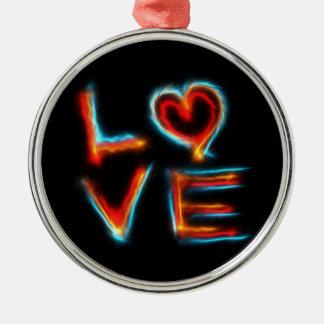Love Metal Ornament