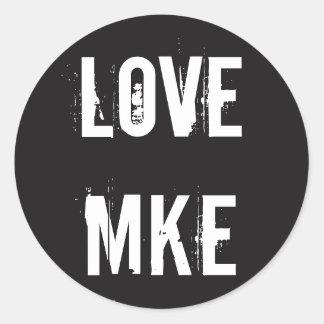 LOVE MILWAUKEE - Love MKE Classic Round Sticker