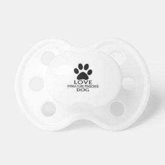 LOVE MINIATURE PINSCHER DOG DESIGNS PACIFIER