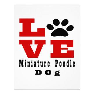 Love Miniature Poodle Dog Designes Personalized Letterhead