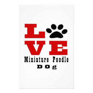 Love Miniature Poodle Dog Designes Stationery Design