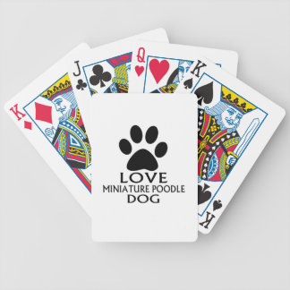 LOVE MINIATURE POODLE DOG DESIGNS BICYCLE PLAYING CARDS