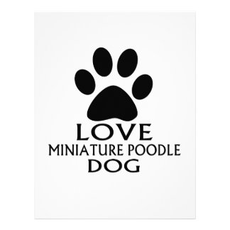 LOVE MINIATURE POODLE DOG DESIGNS LETTERHEAD