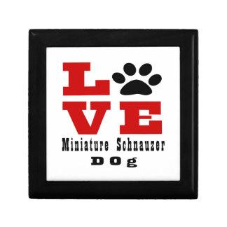 Love Miniature Schnauzer Dog Designes Gift Box