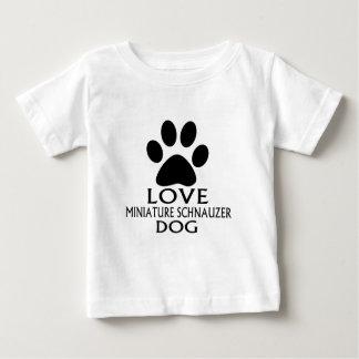 LOVE MINIATURE SCHNAUZER DOG DESIGNS BABY T-Shirt
