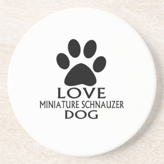 LOVE MINIATURE SCHNAUZER DOG DESIGNS COASTER