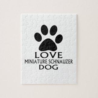 LOVE MINIATURE SCHNAUZER DOG DESIGNS JIGSAW PUZZLE