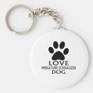 LOVE MINIATURE SCHNAUZER DOG DESIGNS KEYCHAIN