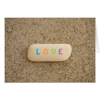 LOVE Minimalist Beach Pottery Beach Glass Card