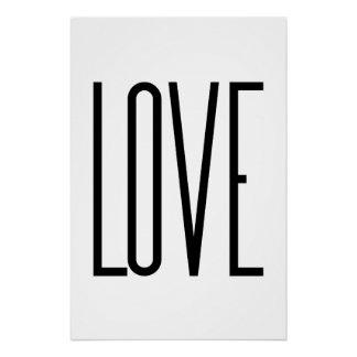 Love - Minimalist Design Perfect Poster