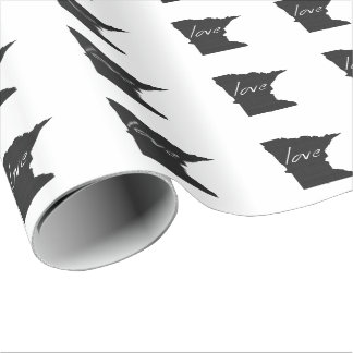 Love Minnesota Wrapping Paper