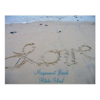 Love Misquamicut Beach Postcard