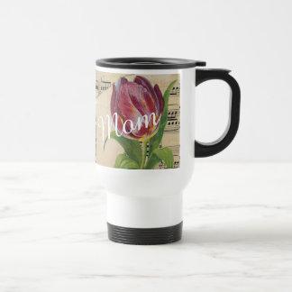Love Mom Floral Travel Coffee Mug