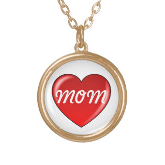 Love Mom Heart Necklace