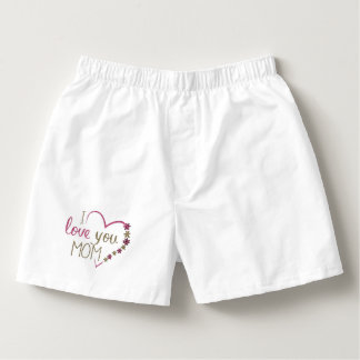 Love Mom Mothers Day Heart Boxers