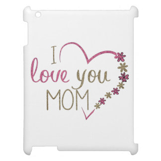 Love Mom Mothers Day Heart Cover For The iPad 2 3 4