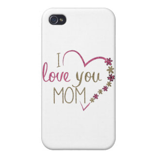 Love Mom Mothers Day Heart iPhone 4 Case