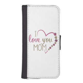 Love Mom Mothers Day Heart iPhone SE/5/5s Wallet Case