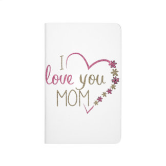 Love Mom Mothers Day Heart Journal