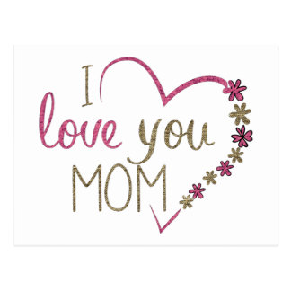 Love Mom Mothers Day Heart Postcard