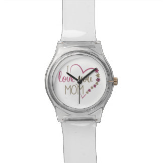 Love Mom Mothers Day Heart Watch