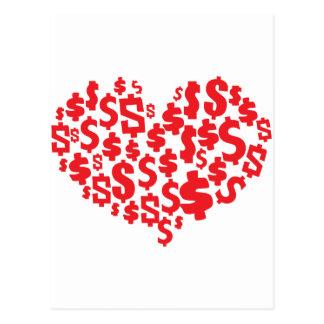LOVE MONEY POSTCARD