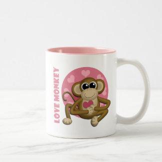 Love Monkey - Cute Monkey with Hearts Mug