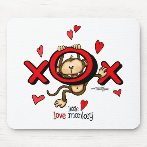 Love Monkey Mouse Pads