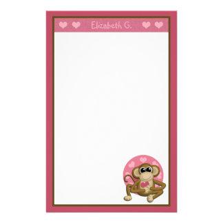 Love Monkey - Personalized Stationery