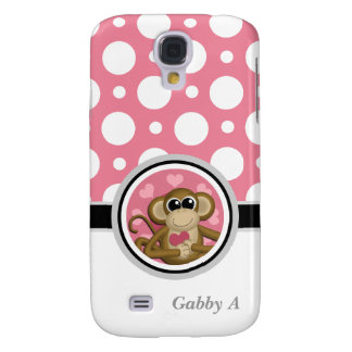 Love Monkey Pink & White Polka Dot Galaxy S4