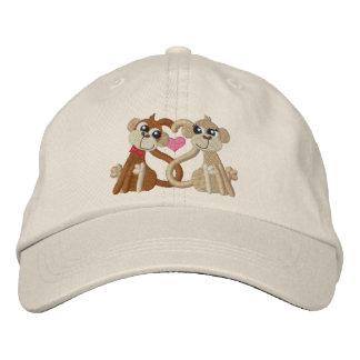 Love Monkeys Embroidered Hat