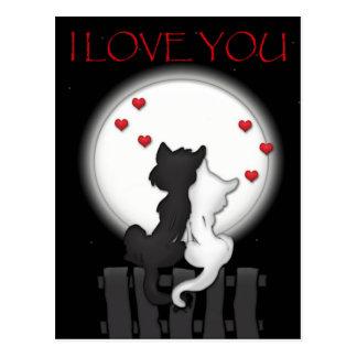 Love Moon Postcard