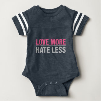 Love More Hate Less Baby Bodysuit