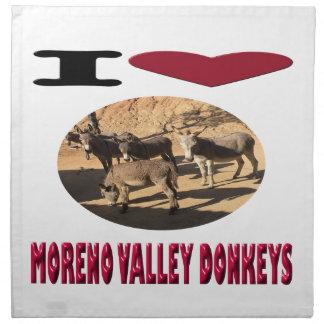 Love Moreno Valley Donkeys Napkin
