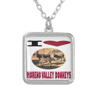 Love Moreno Valley Donkeys Silver Plated Necklace