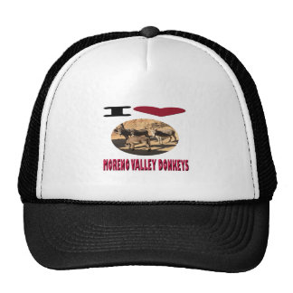 Love Moreno Valley Donkeys Trucker Hat