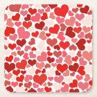 Love Mosaic Square Paper Coaster