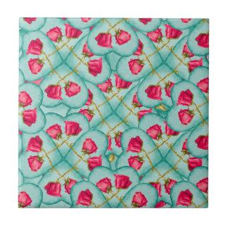 Love Motif Pattern Print Tile