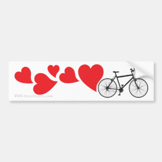 Love Mountain Biking Bumper Sticker
