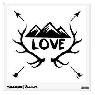 Love Mountains Arrows Antlers Wall Sticker