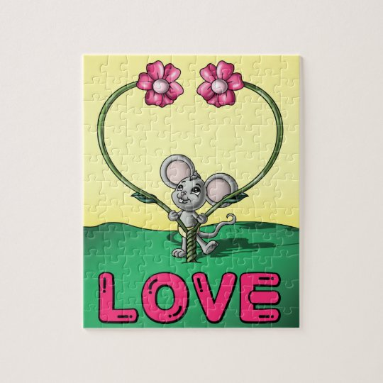 Love Mouse 8 x 10 Photo Puzzle with Gift Box