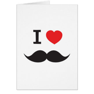 Love Moustache Greeting Card