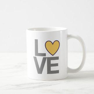 LOVE Mug - Purple, Gold, and Grey