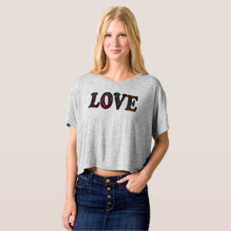 Love Multi-word Multi-colored Print T-shirt