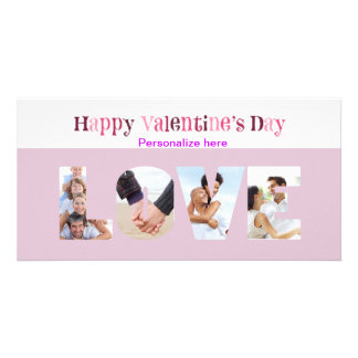 LOVE Multiple Photo Valentine's  Anniversary Card Photo Cards
