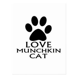 LOVE MUNCHKIN CAT DESIGNS POSTCARD