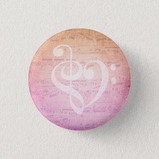 Love Music 1 Inch Round Button