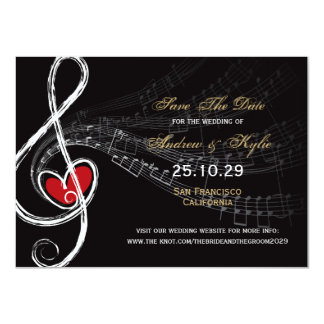Love & Music Artist Photo Save The Date Card