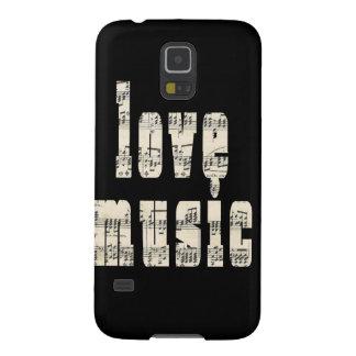 Love music black Samsung Galaxy Case